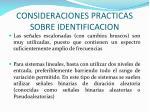 consideraciones practicas sobre identificacion1