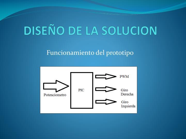DISEÑO DE LA SOLUCION