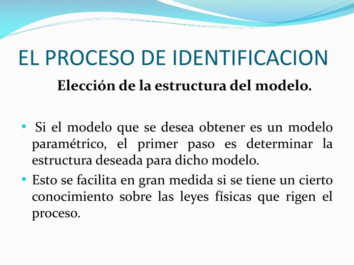EL PROCESO DE IDENTIFICACION