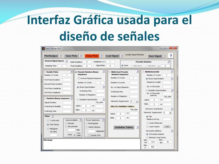 Interfaz Gráfica usada para el diseño de señales