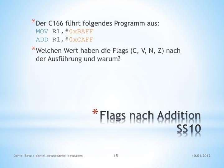 Der C166 führt folgendes Programm aus: