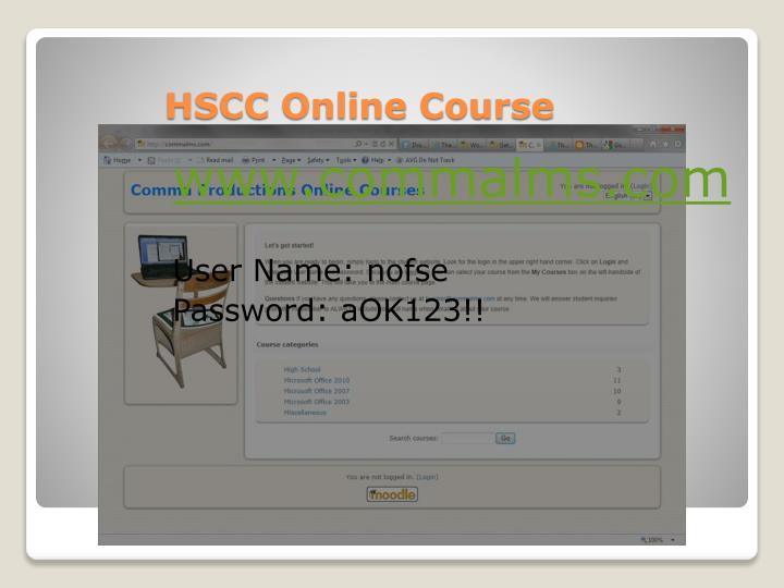 HSCC Online Course