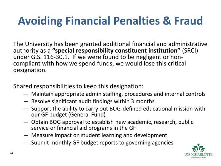 Avoiding Financial Penalties & Fraud