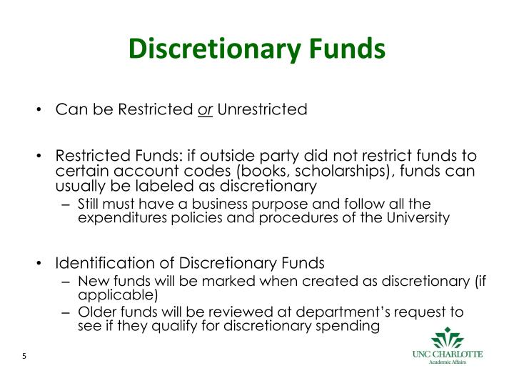 Discretionary Funds