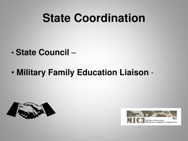 State Coordination