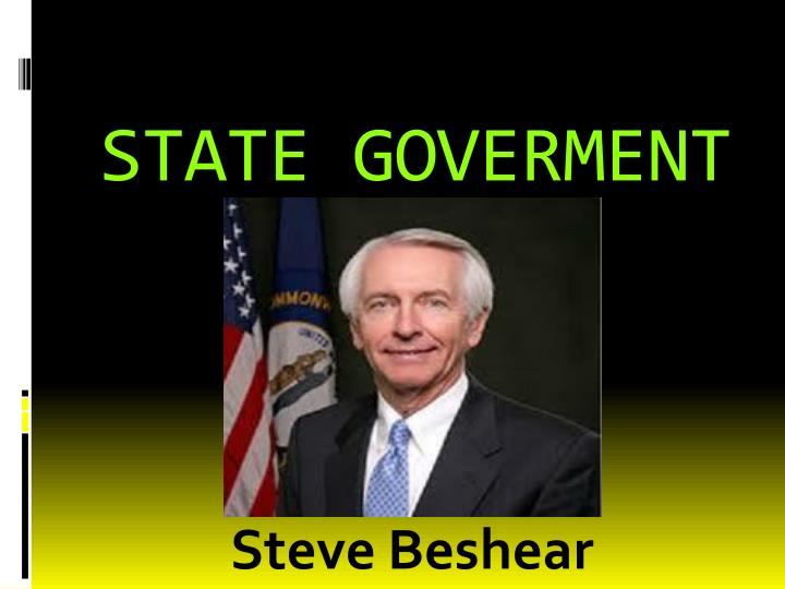 STATE GOVERMENT