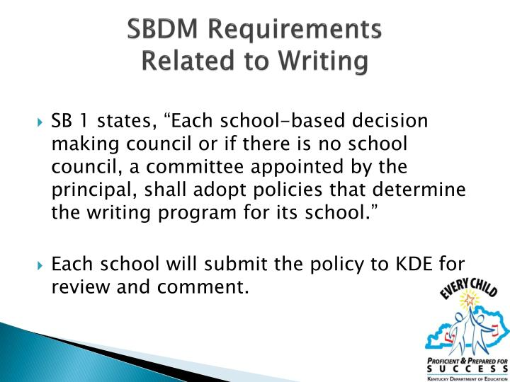 SBDM Requirements