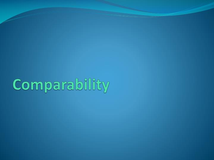 Comparability