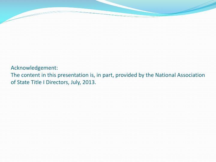 Acknowledgement: