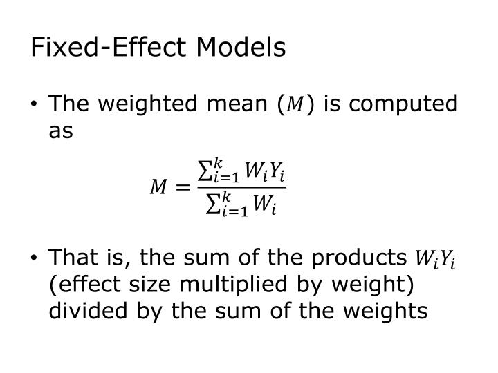 Fixed-Effect Models
