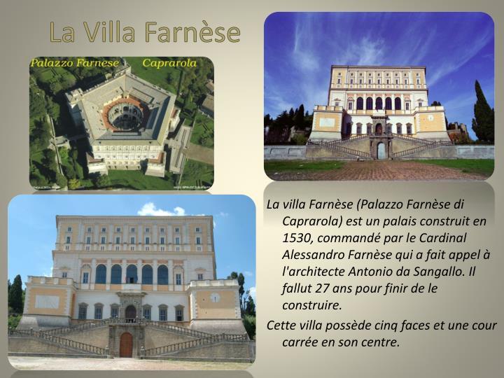 La Villa Farnèse