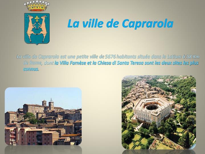 La ville de Caprarola