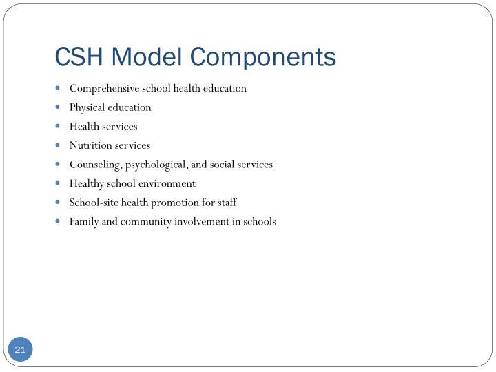 CSH Model Components