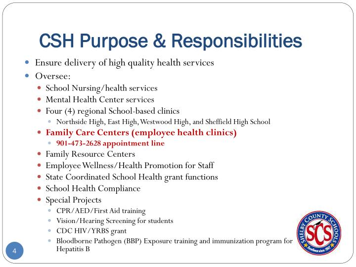 CSH Purpose & Responsibilities