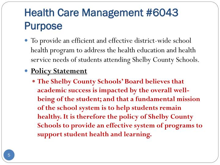 Health Care Management #6043