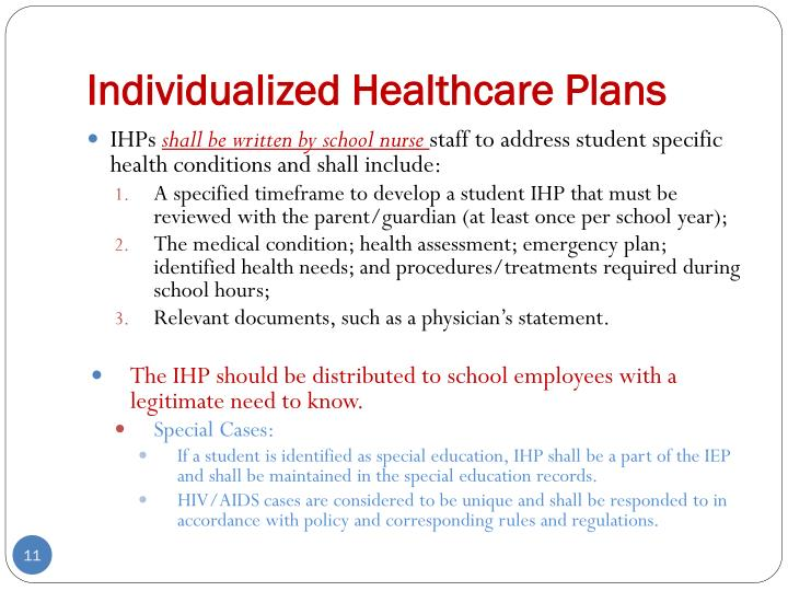 Individualized Healthcare Plans