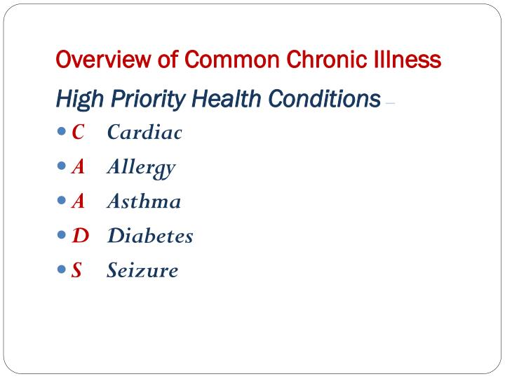 Overview of Common Chronic Illness