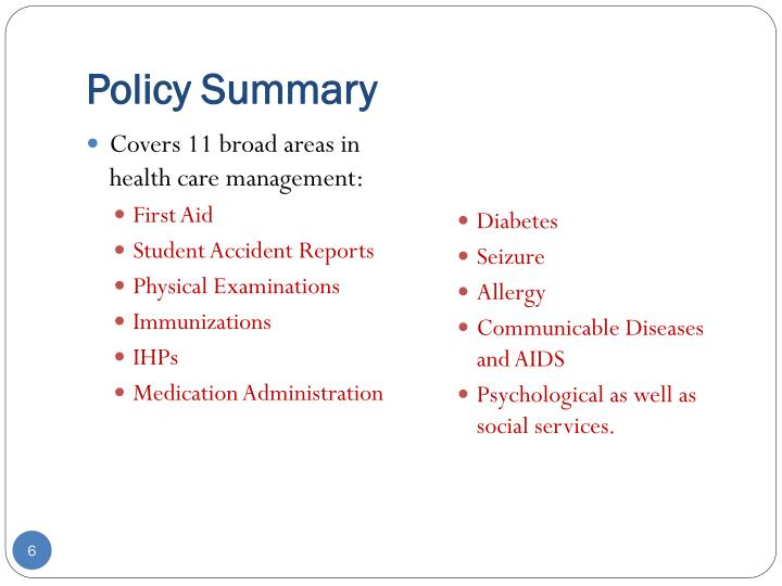 Policy Summary