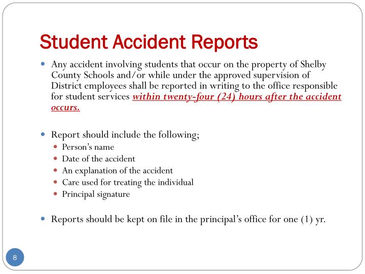 Student Accident Reports