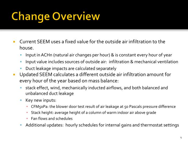 Change Overview