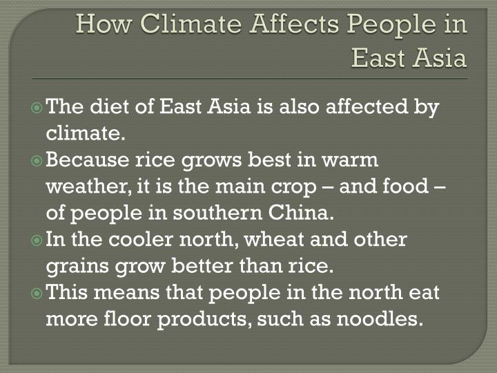 How Climate Affects People in East Asia