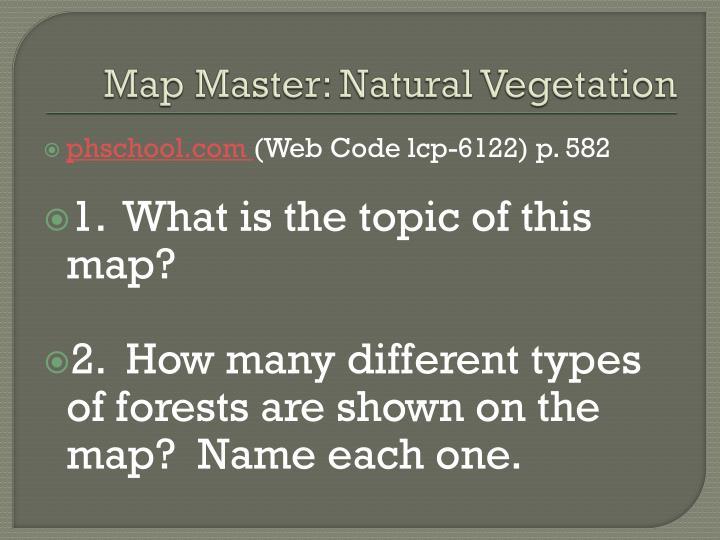 Map Master: Natural Vegetation