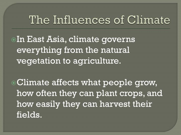 The Influences of Climate