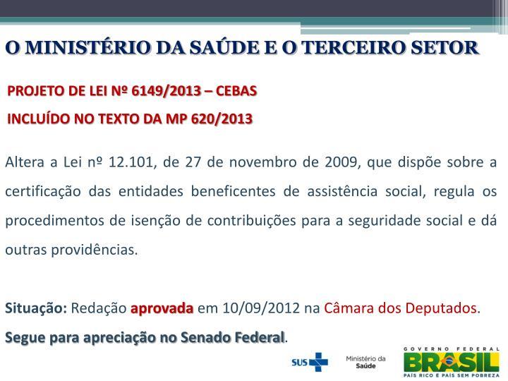 O MINISTÉRIO DA SAÚDE E O TERCEIRO SETOR