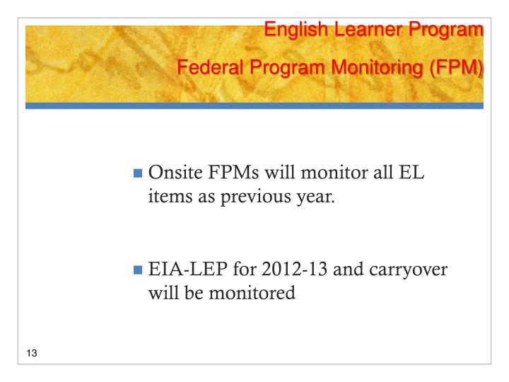 English Learner Program