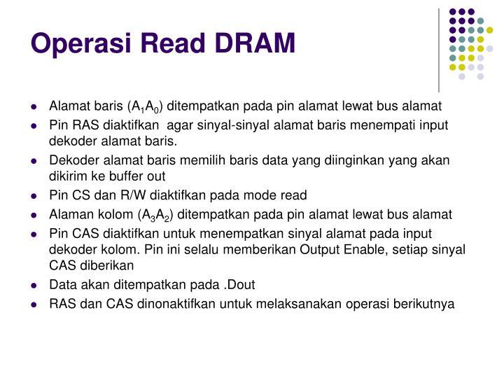Operasi Read DRAM