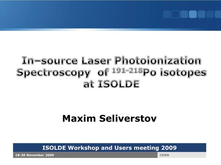 In–source Laser