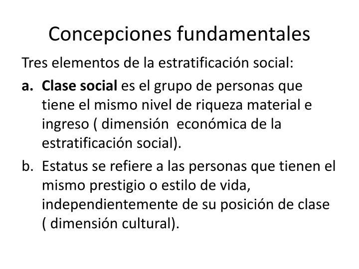 Concepciones fundamentales