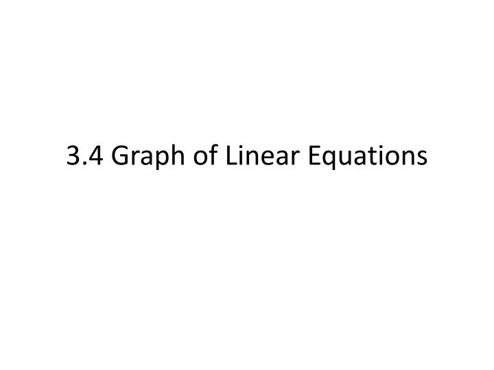 3 4 graph of linear equations