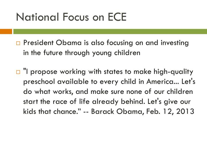 National Focus on ECE