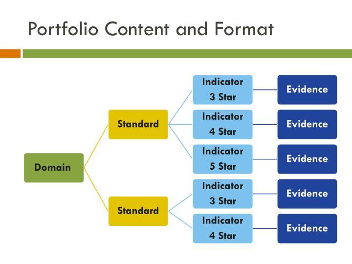 Portfolio Content and Format