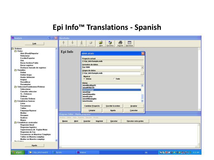 Epi Info™
