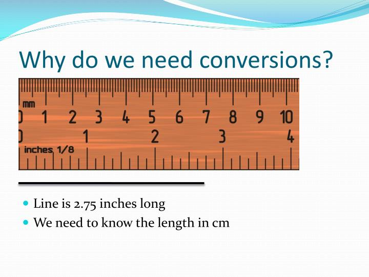 Why do we need conversions?