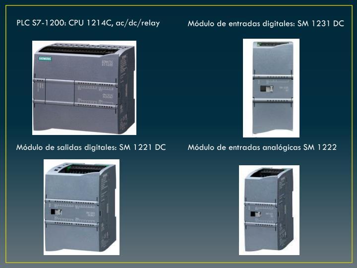 PLC S7-1200: CPU 1214C, ac/dc/relay