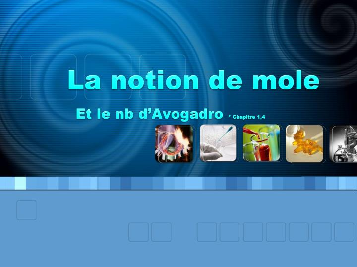 La notion de mole