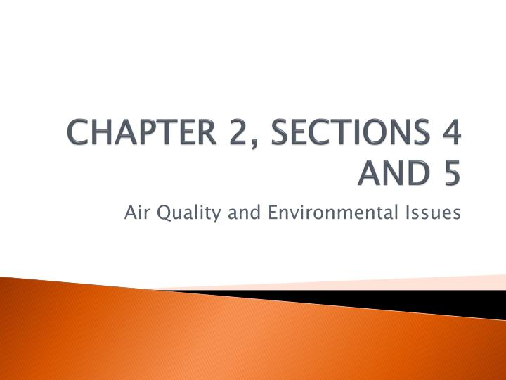 Chapter 2 sections 4 and 5