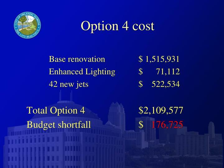Option 4 cost