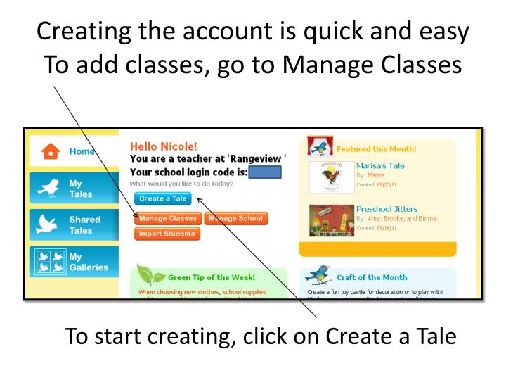 Creating the account is quick and easy