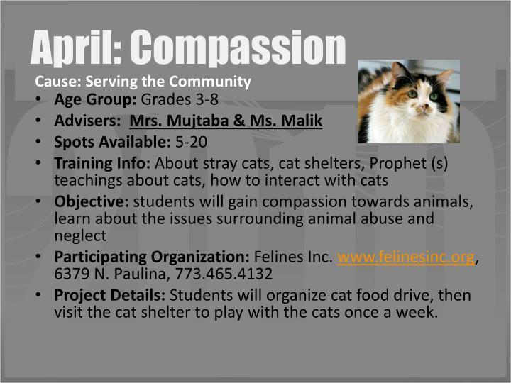 April: Compassion