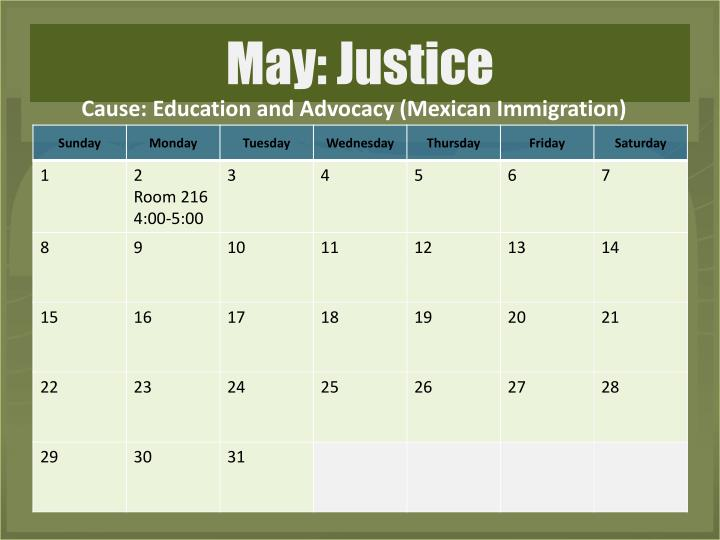 Cause: Education and Advocacy (Mexican Immigration)