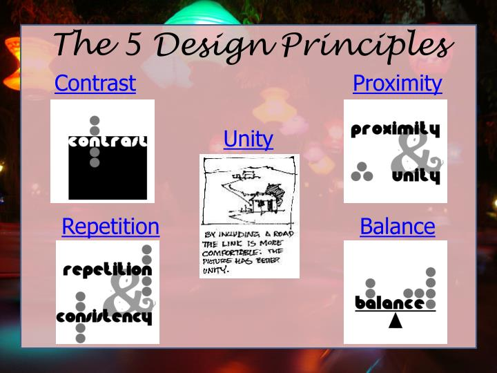 The 5 Design Principles