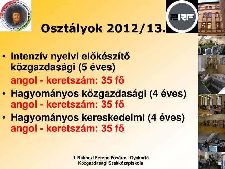 Osztályok 2012/13.