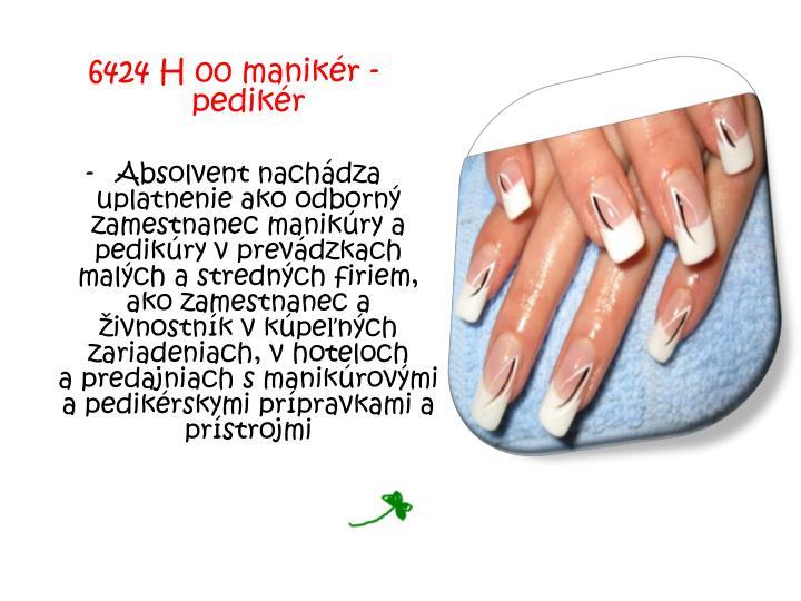 6424 H 00 manikér - pedikér