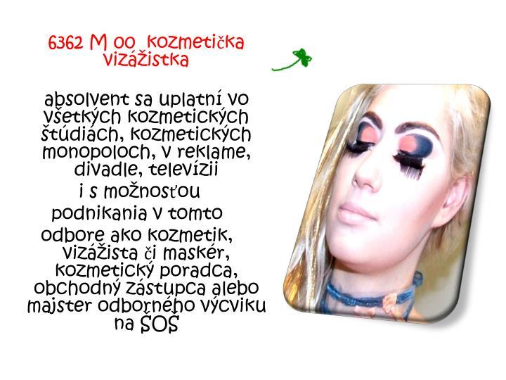 6362 M 00  kozmetička vizážistka