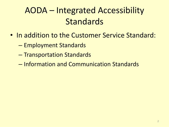 Aoda integrated accessibility standards