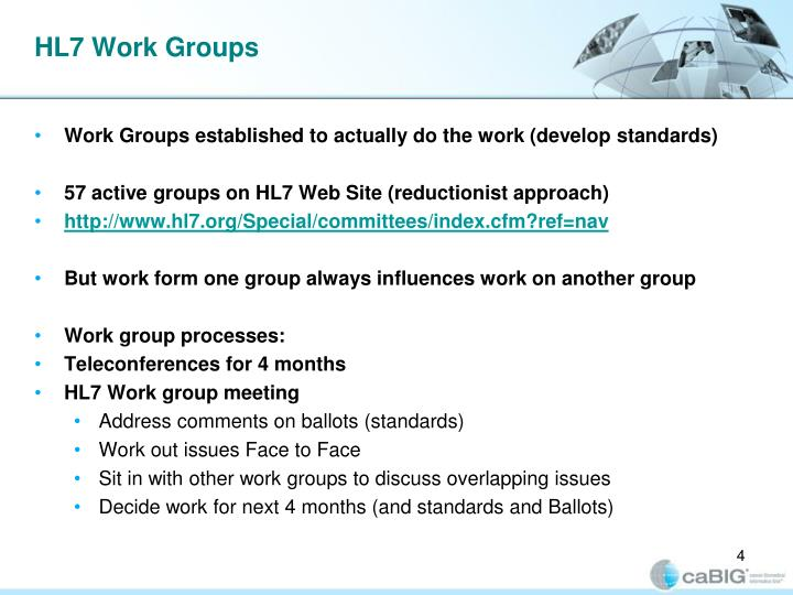 HL7 Work Groups